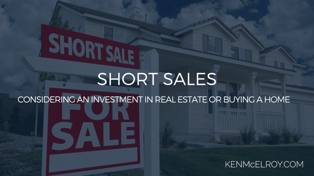 considering an investment in real estate or buying a home | Ken McElroy Image